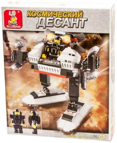 Купить Конструктор SLUBAN Космический десант: Робот Охотник (M38-B0336A),