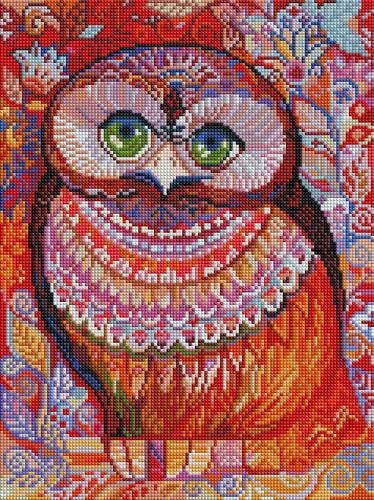 Мозаика на подрамнике Белоснежка Медовая сова, 30 х 40 см
