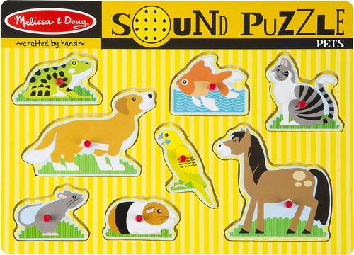 Купить Пазл со звуком MELISSA&DOUG Домашние животные (772107303), Melissa & Doug, Игровые наборы