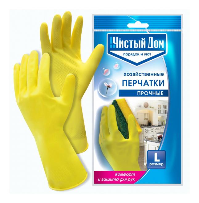 Чистый дом Перчатки Прочные латексные L фото