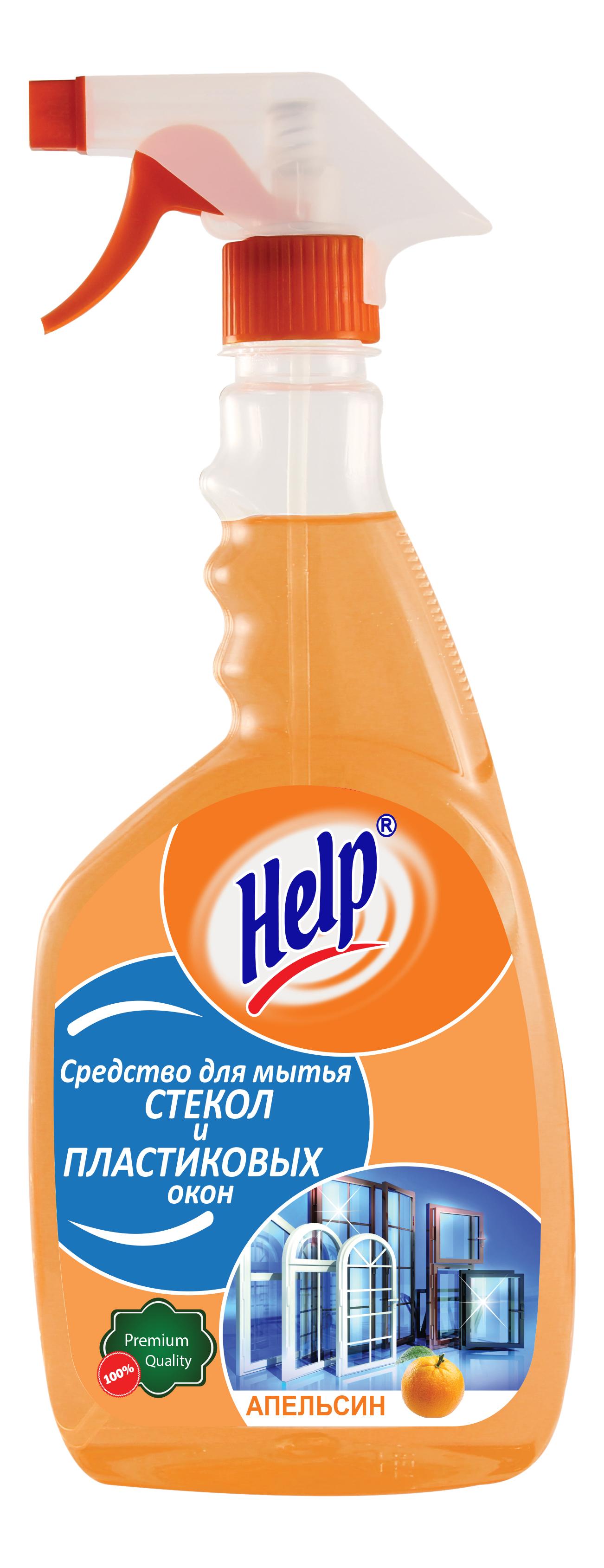 Универсальное чистящее средство Help апельсинс для пластиковых