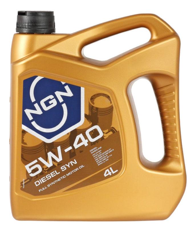 Моторное масло NGN Diesel SYN 5W-40 4л