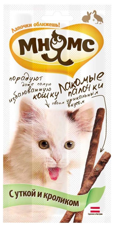 Лакомство для кошек Мнямс Лакомые палочки, кролик,
