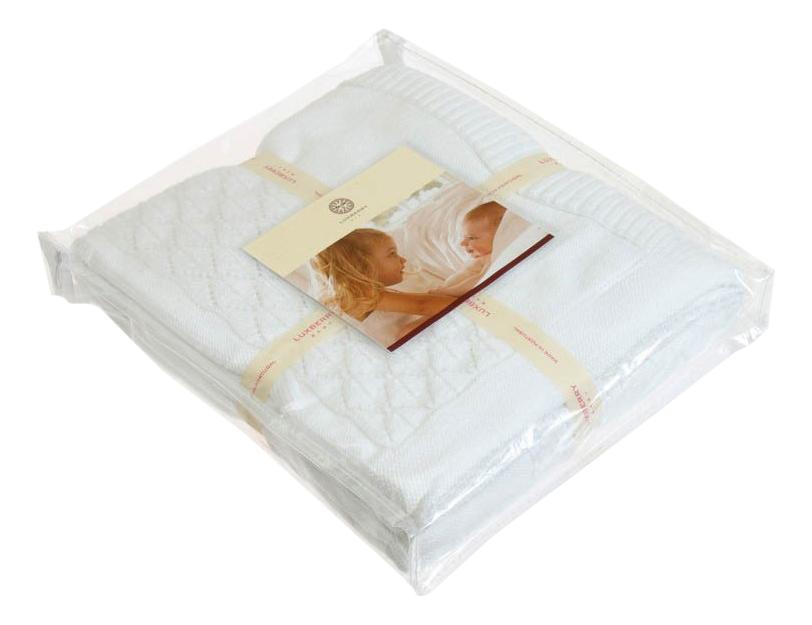 Купить Плед Luxberry Imperio 283 75 х 100 см белый, Пледы для новорожденных