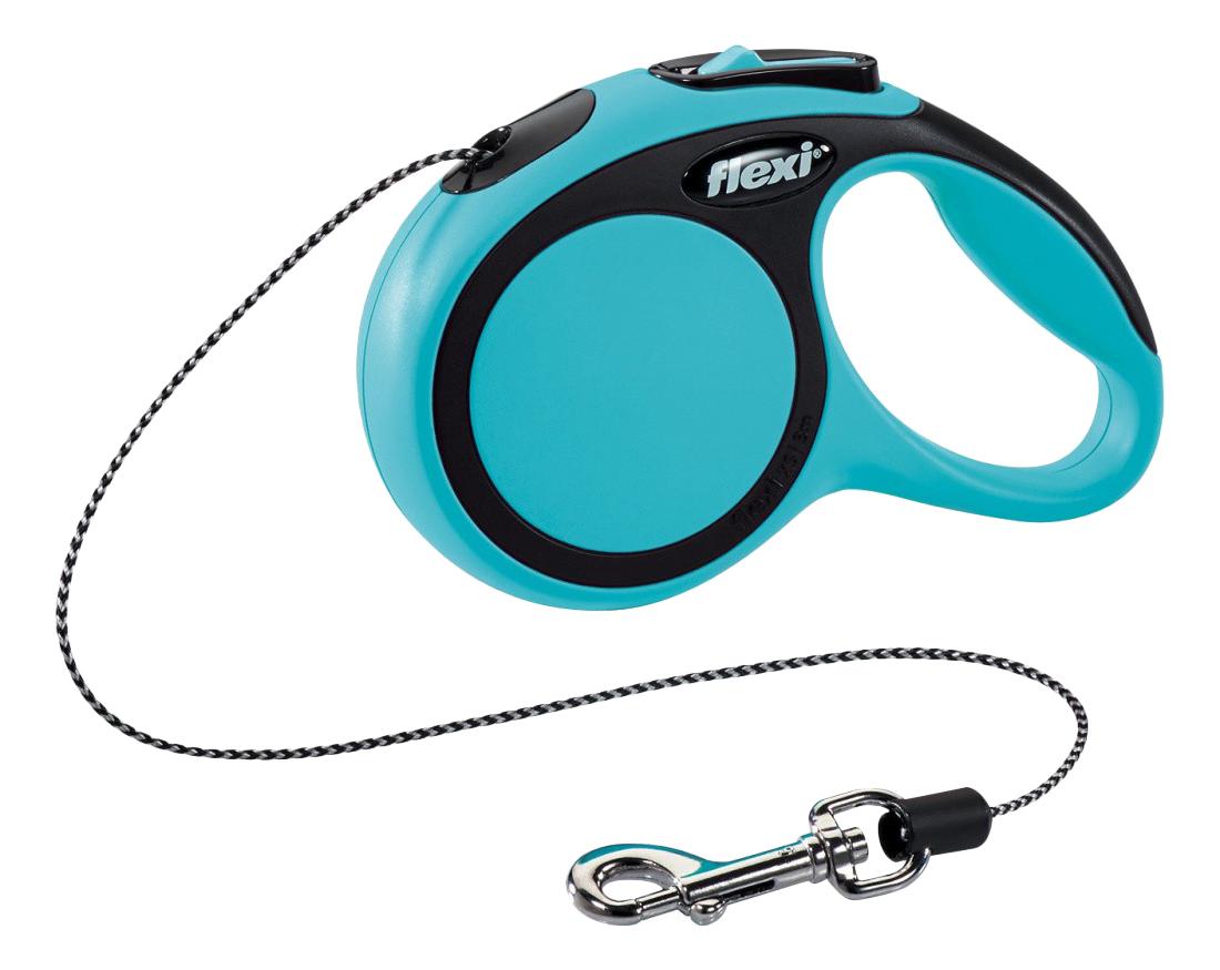 Поводок-рулетка для собак flexi New Comfort, лента, синий, XS, до 12 кг, 3 м
