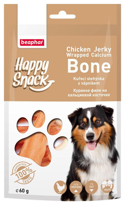 Лакомство для собак Beaphar Happy Snack, куриное филе на кальциевой косточке, 60г