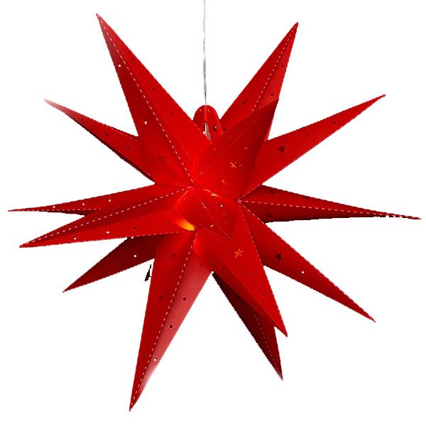 Светильник подвесной Звезда Полярная 60 см красная, LED подсветка 83 3301