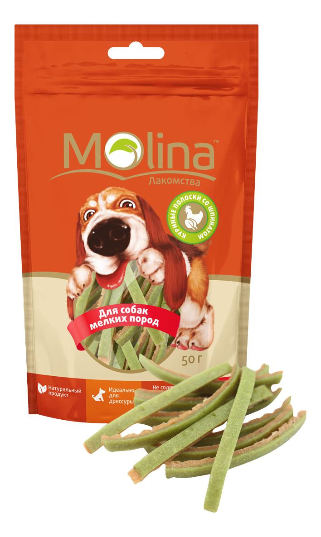 Лакомство для собак Molina, палочки, курица, 50г