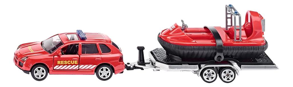 Коллекционная модель Siku Car with Trailer and Hovercraft фото