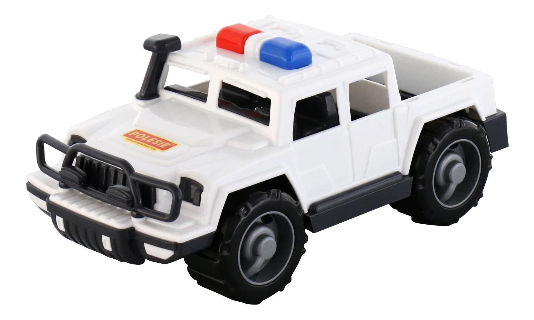 Купить Пикап Защитник патрульный черно-белый Полесье 63588, Спецслужбы