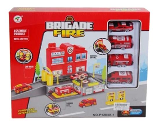 Купить Игровой набор пожарная станция с аксессуарами Shantou Gepai B1586330, Игровые наборы
