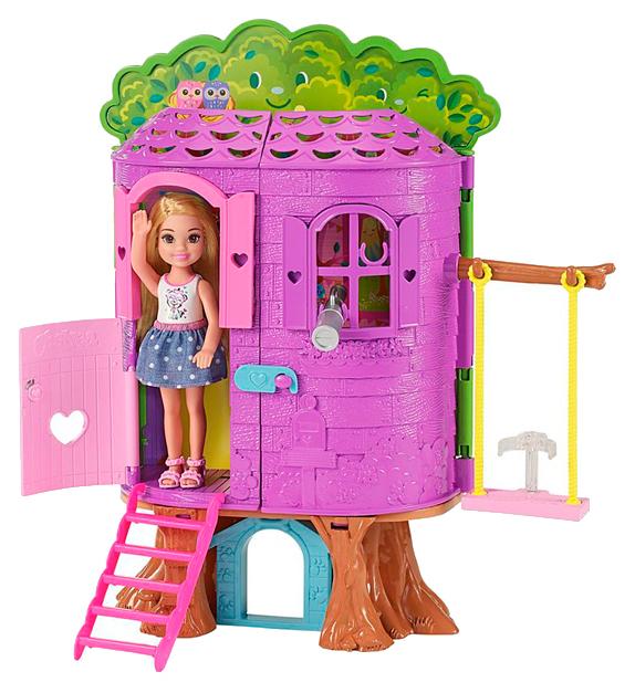 Купить Игровой набор Mattel Barbie Домик на дереве Челси FPF83, Игровой набор Barbie Домик на дереве Челси FPF83, Куклы Barbie