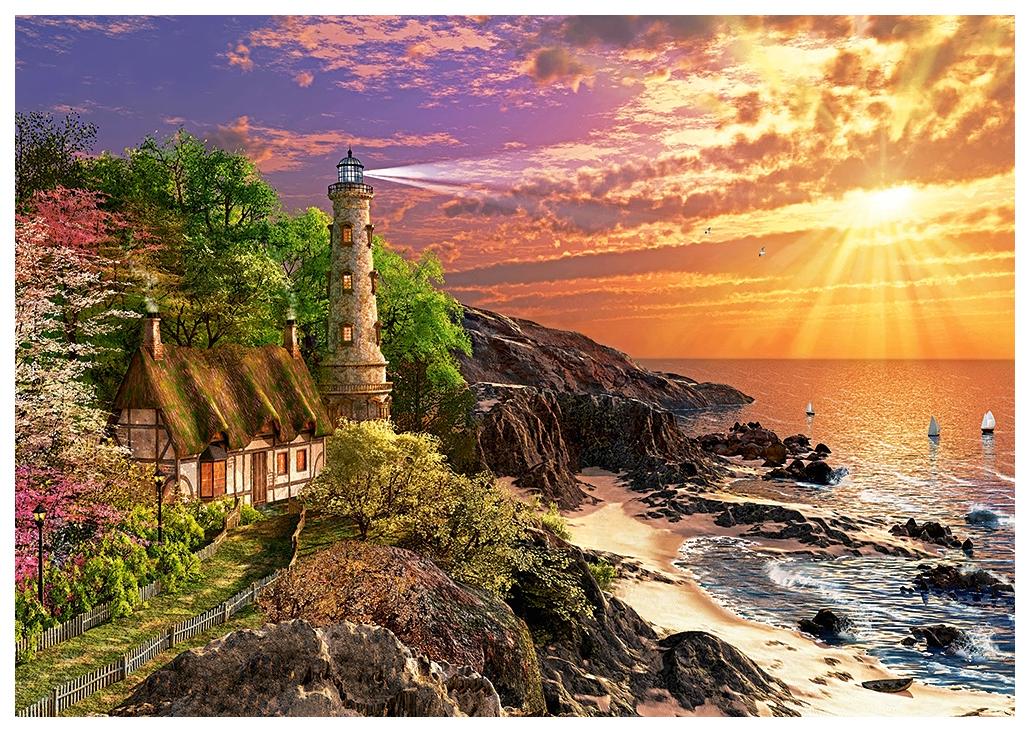 Купить Пазл Castorland Дом на побережье 500 элементов B-52615, Пазлы