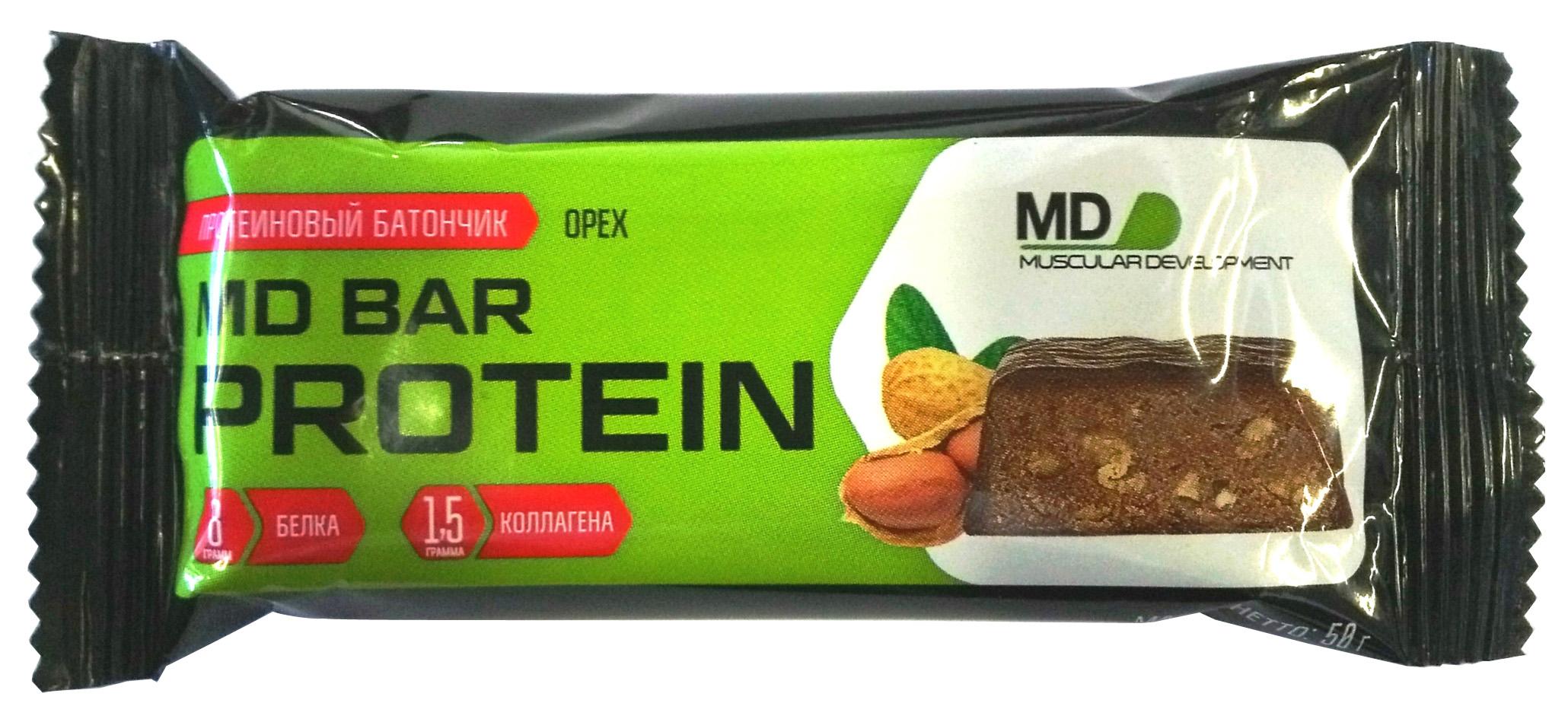 Протеиновый батончик MD Bar Protein 50 г орех