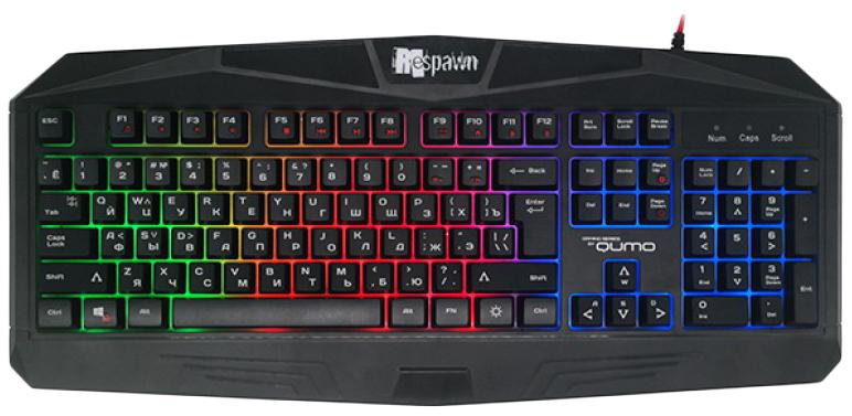 Комплект клавиатура и мышь QUMO Respawn K28/M28 Черный фото