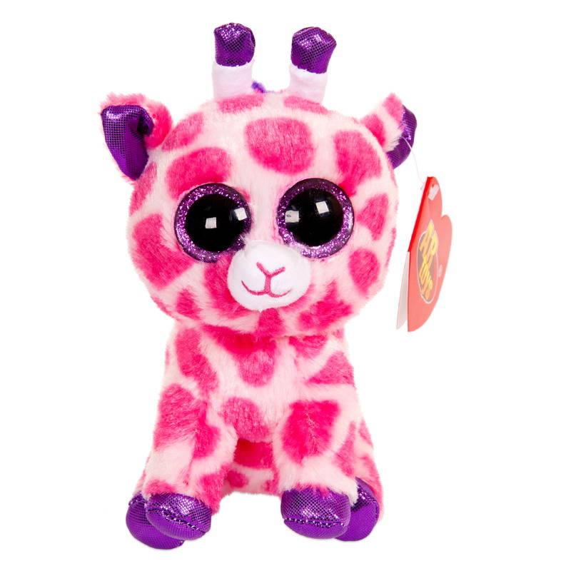 Купить Мягкая игрушка ABtoys Жираф розовый, 15 см, Мягкие игрушки животные
