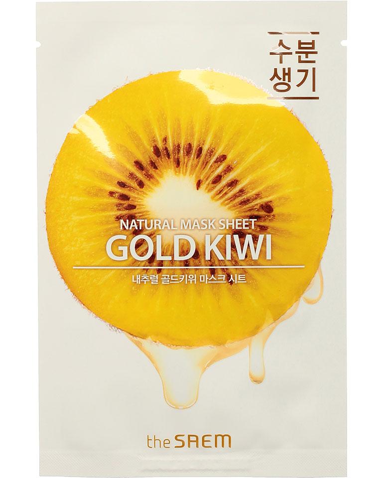 Купить Маска тканевая N с экстрактом киви Natural Gold Kiwi Mask Sheet 21мл, THE SAEM