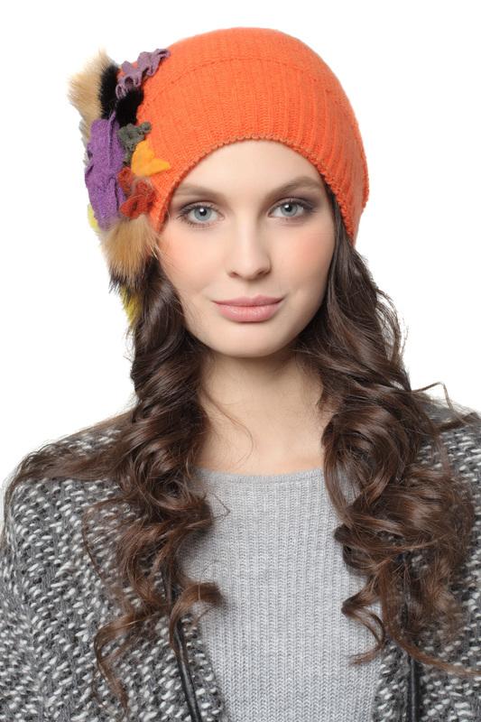 Шапка женская Lak Miss KLER 3334 оранжевая 56-58