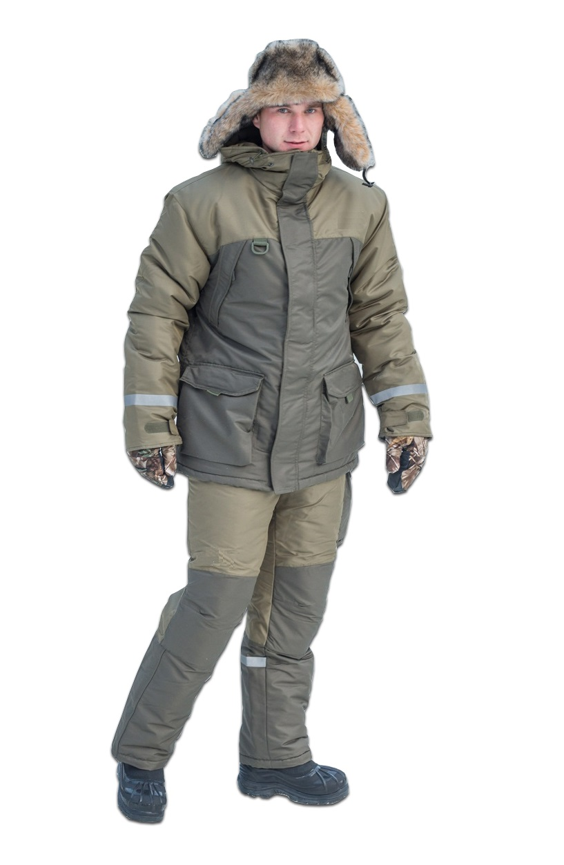 Зимний костюм для охоты и рыбалки KATRAN Вустер, хаки, 52-54 RU, 182-188 см фото