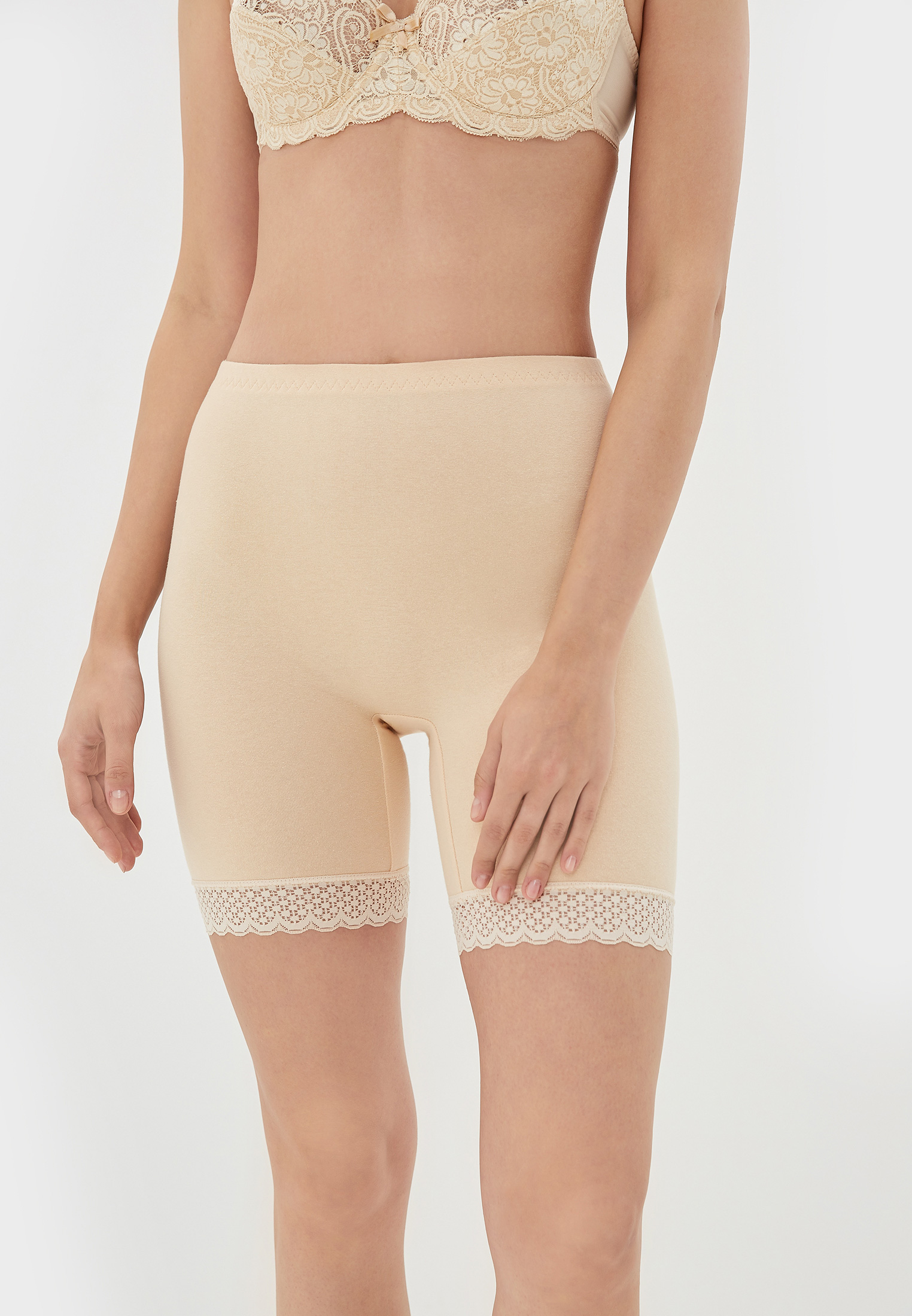 Панталоны женские НОВОЕ ВРЕМЯ T014 бежевые 54 RU