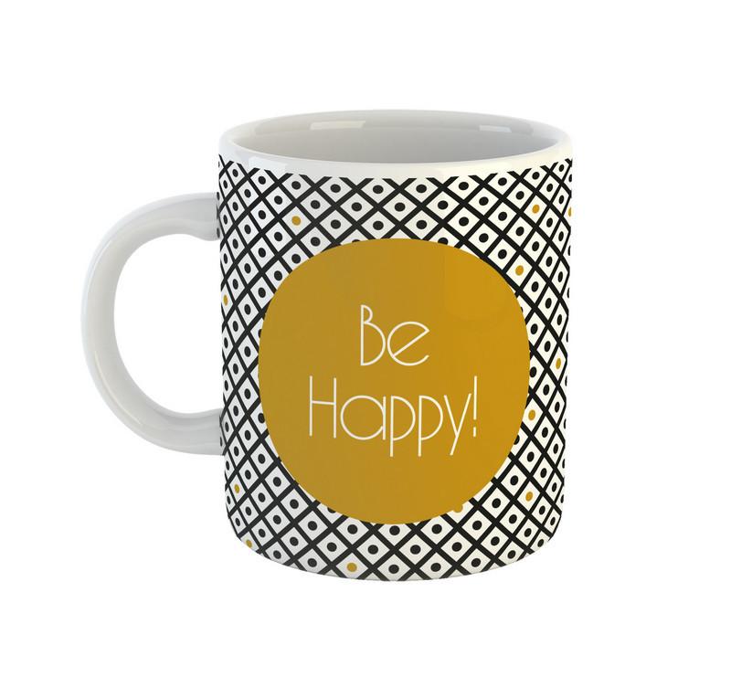 Кружка Be Happy с надписью Be happy