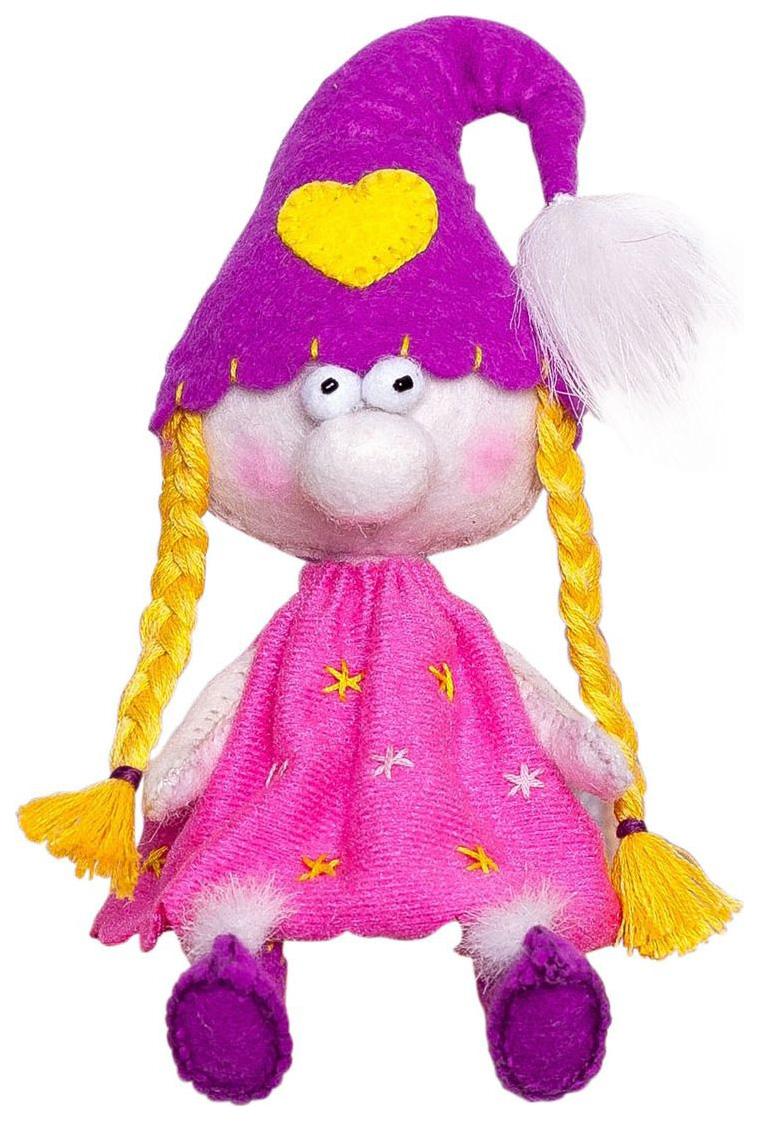 Купить ПЕРЛОВКА Набор для создания текстильной игрушки из фетра Гномочка, 15, 5 см, ПФГ-1555, Перловка, Рукоделие