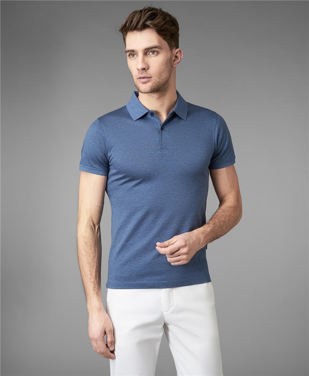 Рубашка мужская HENDERSON HPS-0276 голубая 2XL фото