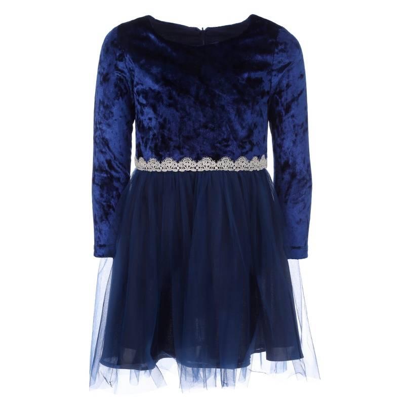 Купить Платье Goldy, цв. темно-синий, 104 р-р, Детские платья и сарафаны