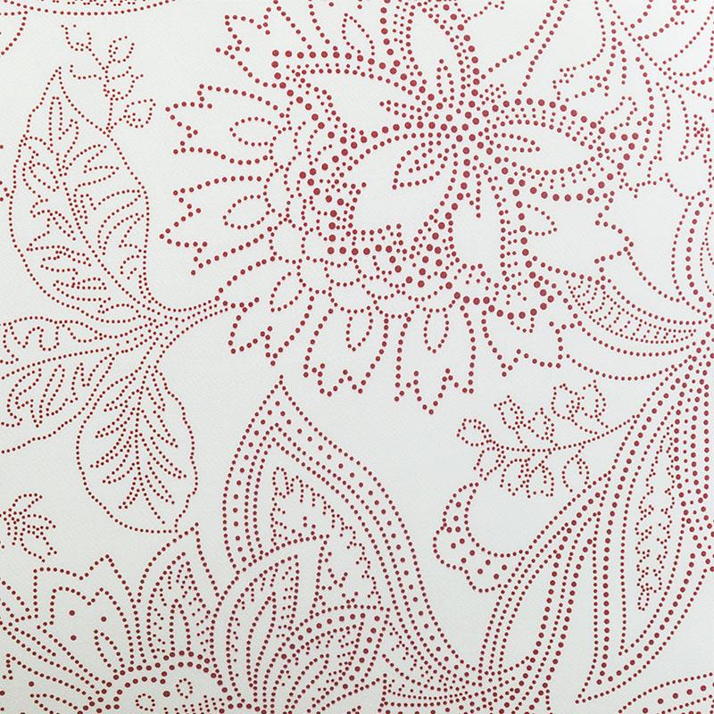 Скатерть Lameirinho круглая д.170см, цвет бежевый, бордовый, 100% хлопок