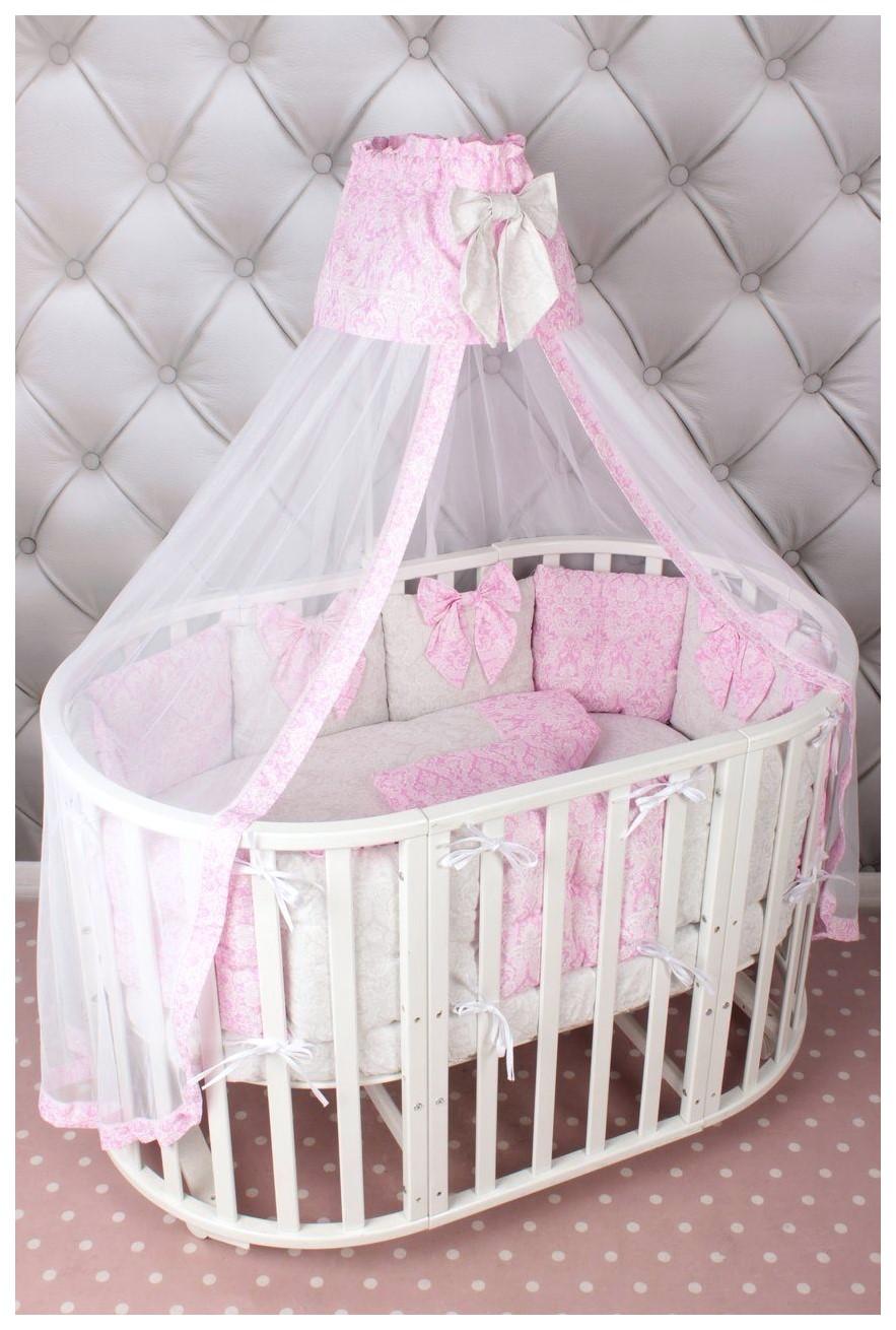 Комплект детского постельного белья в кроватку AmaroBaby Premium. Элит, розовый