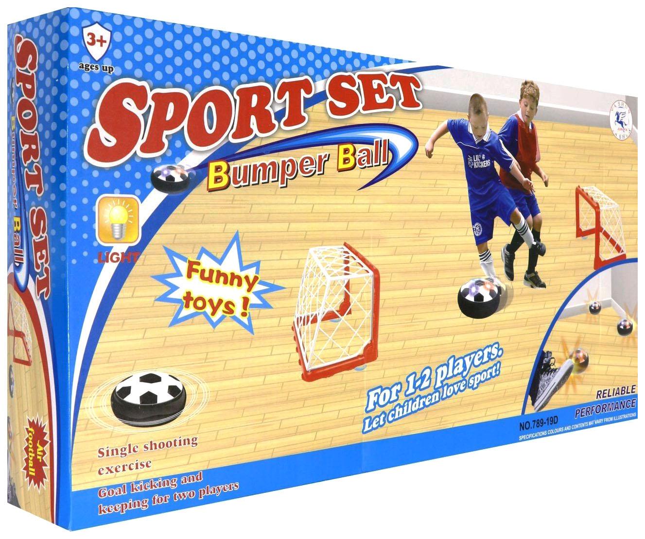 Купить Набор для игры в диск-мяч ворота 2 шт диск диаметр 14 см со световыми эффектами, Junfa toys,