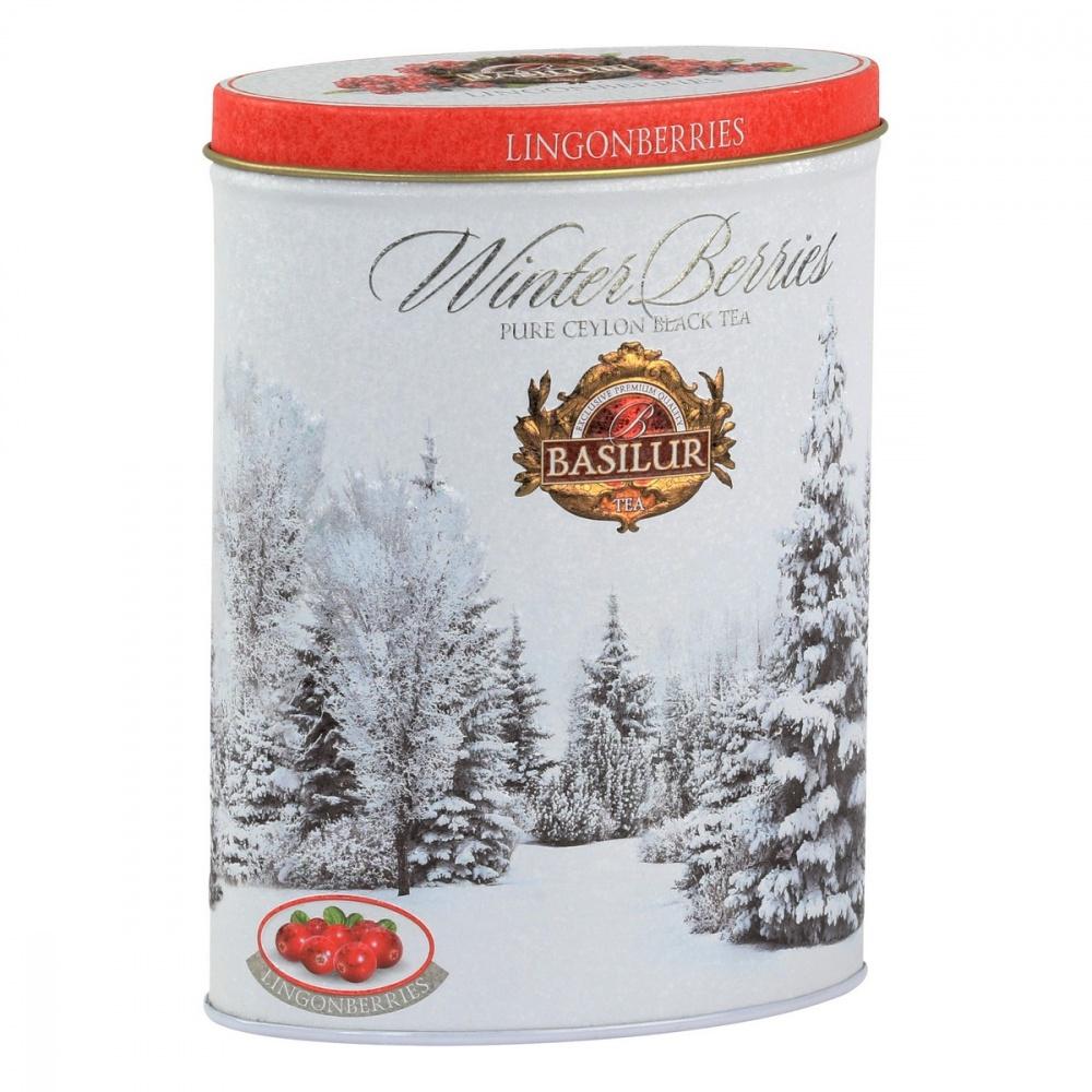 Чай Basilur Зимние ягоды - Брусника черный с добавками 100 г фото