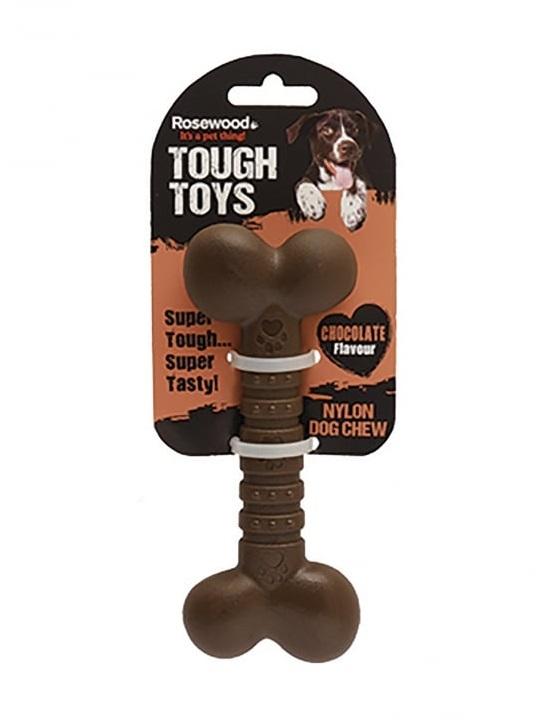 Жевательная игрушка для собак Rosewood Кость шоколадная, 12 см фото