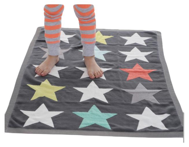 Купить Одеяло Bizzi Growin (Биззи Гровин) Superstar вязаное 70*90 BG030, Одеяла для новорожденных