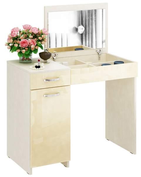 Туалетный столик Риано 03 Глянец дуб молочный/бежевый