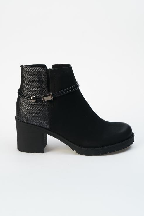 Ботинки женские INSTREET 91-33WN-005GR черные 38 RU фото