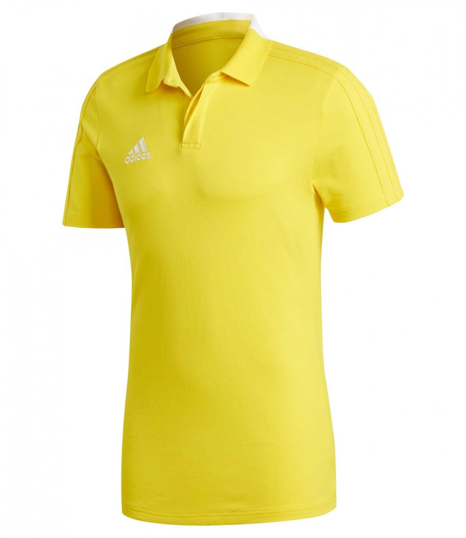 Поло Adidas Condivo 18, yellow/white, M INT фото