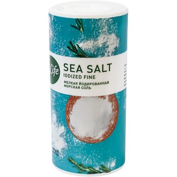 Соль 4Life морская йодированная пищевая мелкая 250 г