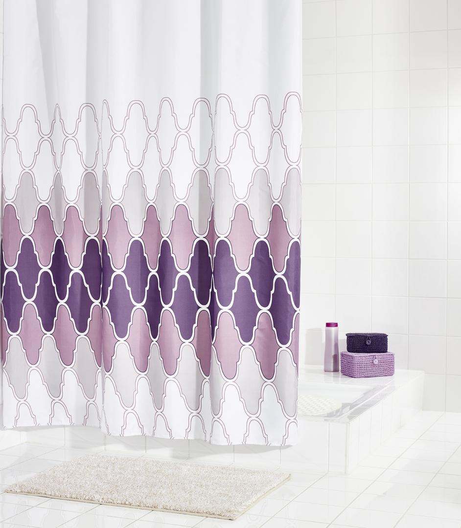 Штора для ванных комнат Boho цветной 180Х200