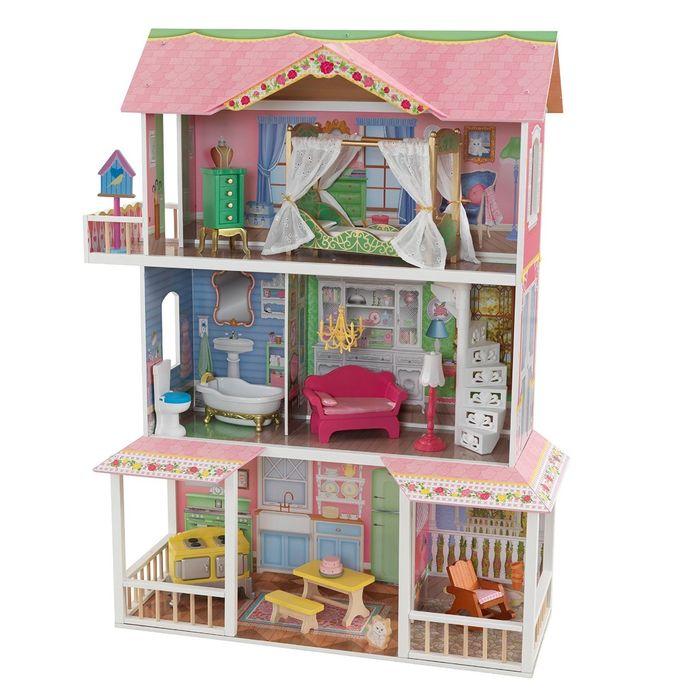 Купить Кукольные домики, Деревянный дом для Барби KidKraft Карамельная Саванна с мебелью
