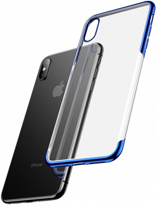 Чехол Baseus Shining (ARAPIPH65-MD03) для iPhone Xs Max (Blue)