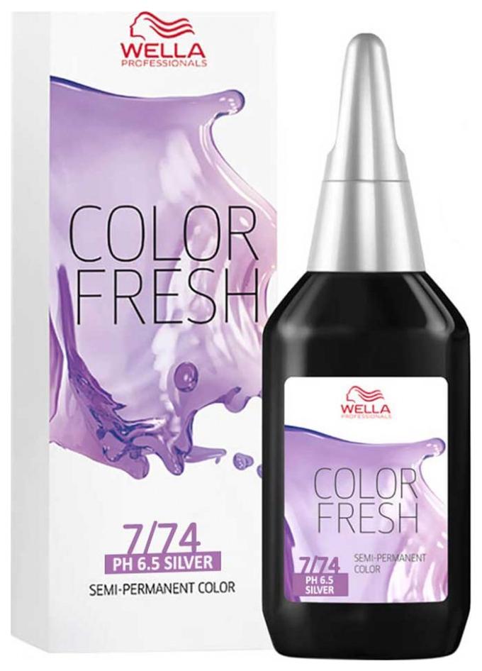 Краска для волос Wella Color fresh 7/74 блонд коричнево-красный 75 мл
