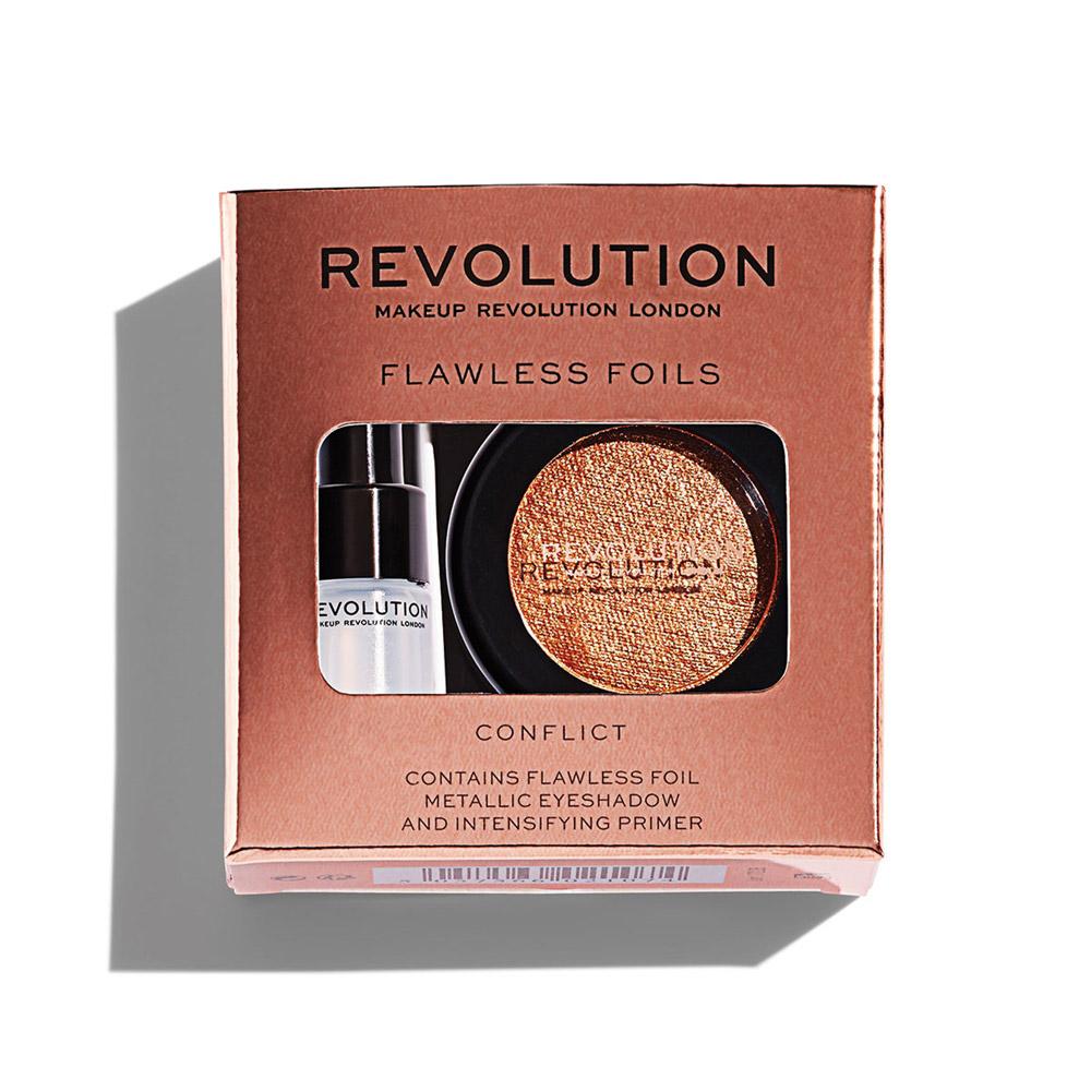 Праймер + тени для век Makeup Revolution Flawless Foils, Conflict