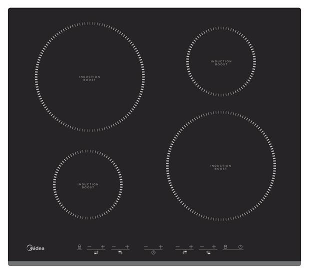 Встраиваемая варочная панель индукционная Midea MIH64416F Black фото
