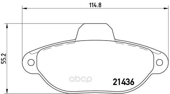 Тормозные колодки дисковые brembo P23160