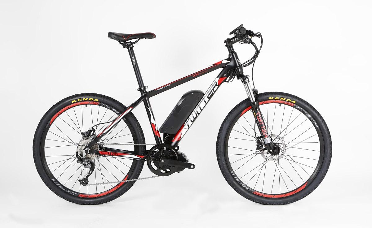 Электровелосипед Twitter TW-E9L черно-красный