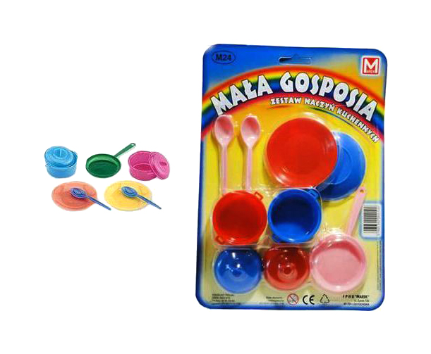 Купить Набор игрушечной посуды маленькая хозяйка 9 предметов Shantou Gepai MA 024, Игрушечная посуда