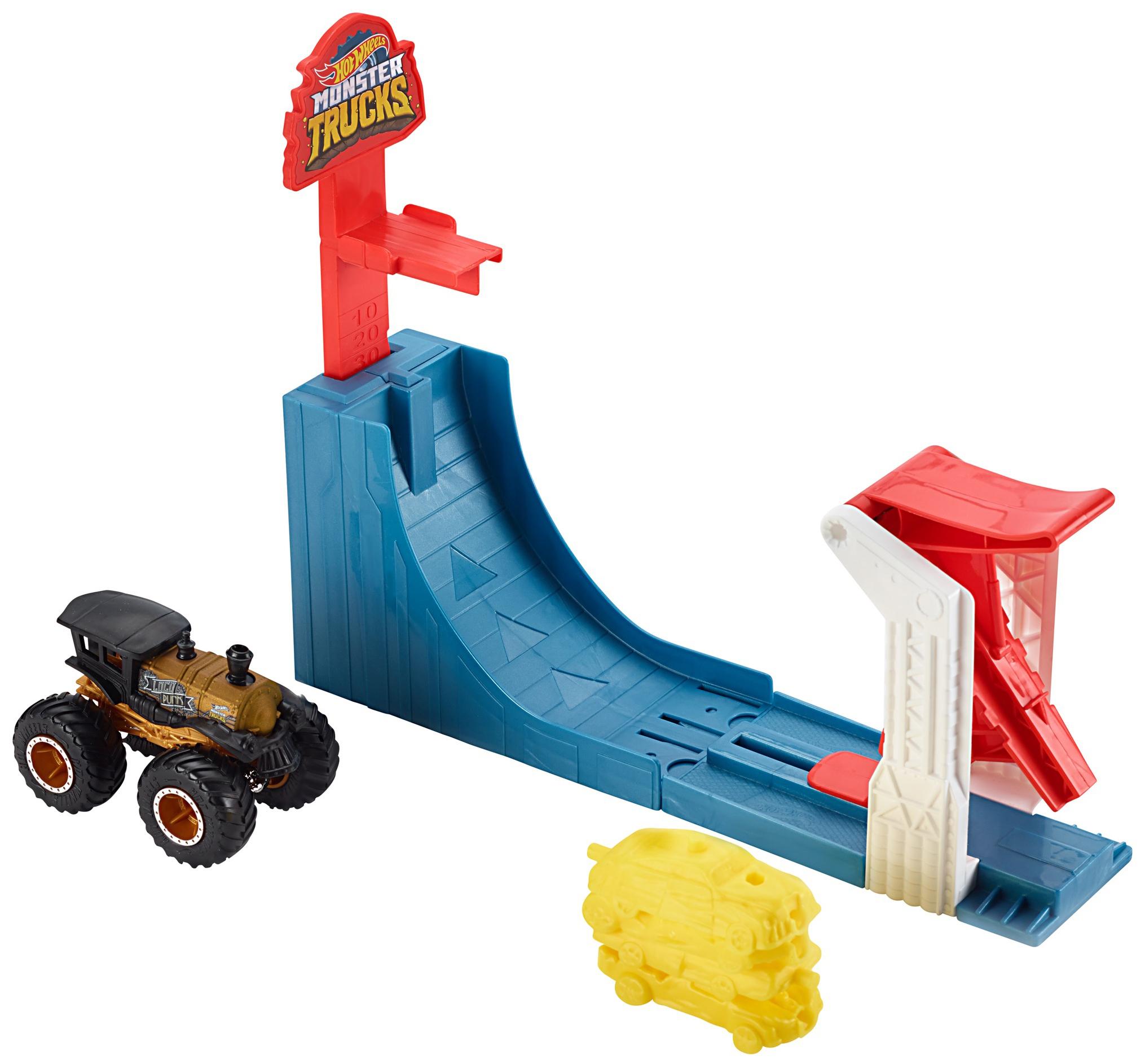 Купить Mattel Hot Wheels GCG00 Хот Вилс Игровой набор Монстр трак Поединок в воздухе, Наборы игрушечного транспорта