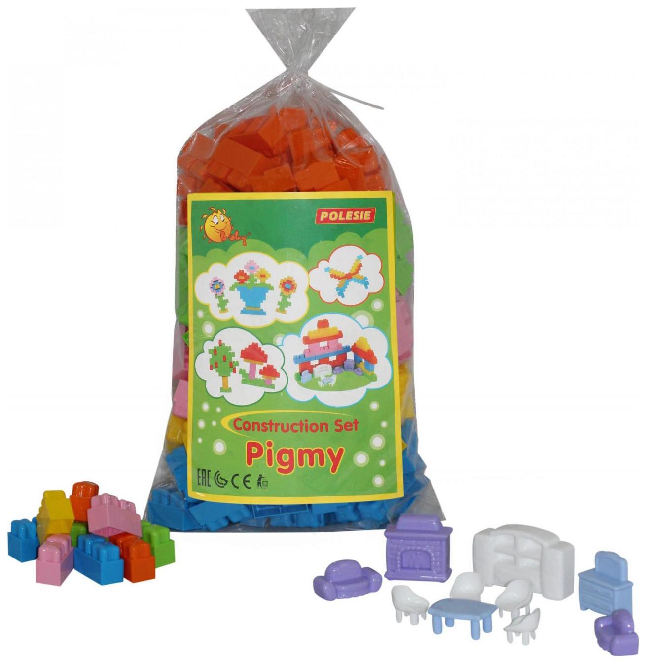 Купить Игрушки, Конструктор для малышей Полесье Малютка 195 элемента в пакете, Детские конструкторы