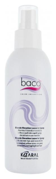 Спрей-блеск для светлых, седых и желтых волос / BACO 150 мл